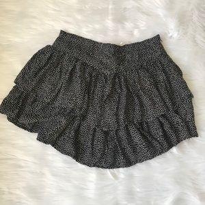 Kimchi Blue Black/white polka dot tier mini skirt